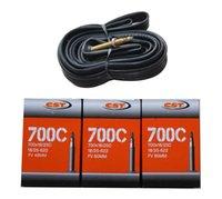 Cheap Wholesale-Bike tube 700c*18c 23c 25c FV 48mm 60mm 80mm Frech valve bicycle bike inner tube inner tire tyre tube