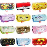 ball pen case - 12 Styles Pencil Case Poke Pikachu Eevee Mewtwo Pocket Monster Canvas High Capacity Pen Pocket Poke Ball Stationery Bag For Girl Boys Gift