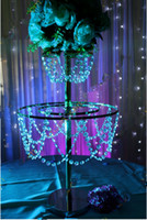 acrylic top table - Clear acrylic chandelier table top centerpieces for flower arrangement