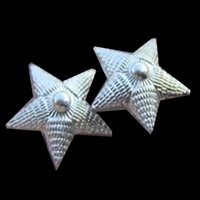 air force silver star - 10pcs pairs rare Russia navy army air force rank shoulder flash stars silver plated badge