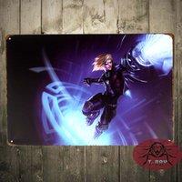 aluminum futures - Metal Tin signs quot Future Warrior Ezreal EZ quot LOL League of Legends Game Home Decor Craft Wall Painting