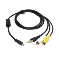 av cable usb - Data Cable for Nikon Cameras Coolpix S210 S520 L15 Pin USB RCA AV Digital Camera Camera Cables Cords Connectors