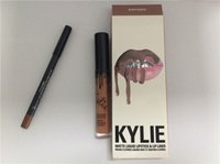 Wholesale Kylie Lip Kit colors by Kylie jenner Lip gloss non stick cup labial line pen suits from alina