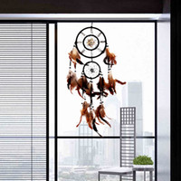 Wholesale Large Size cm Vintage Shell Dream Catcher With Feathers Wall Hanging Decoration Ornament Gift