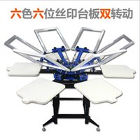 Wholesale 6 color station Manual T shirt Screen Printing Machine