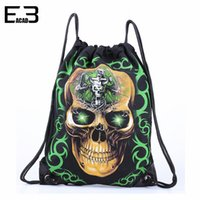 art tables for adults - Skull String Bags Fantastic Halloween Style Drawstring Backpack for Adults The Skull Man Gym Sack for Men Unisex Sport Backpack
