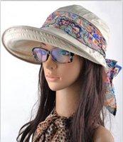 Wholesale Summer Hats for Women New Fashion Outdoors Visors Casua Cap Sun Protection Collapsible Anti UV Large Brim Hat Colors