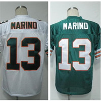 Wholesale Dan Marino Jersey Throwback Football Jersey Best quality Authentic Jersey Size M L XL XXL XXXL Accept Mix Order