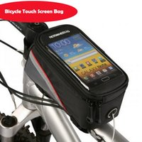 Wholesale ROSWHEEL quot quot Cycling Bike Bicycle bags panniers Frame Front Tube Bag For Cell Phone MTB Bike Touch Screen Bag