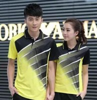 Wholesale New Genuine Badminton Jersey Table tennis shirt clothes polyester breathable quick drying S XL