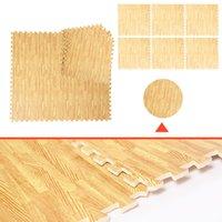 Wholesale 48 Sq Ft EVA Foam Floor Interlocking Mat Show Floor Gym Mat Wood Color