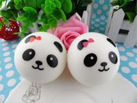 Wholesale Cute cm Panda Squishy Kawaii Buns Bread Charms Bag Key Cell Phone Straps Pair Random
