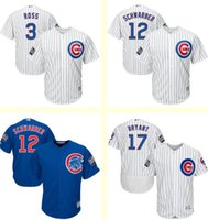 baseballs kyle - Men s Chicago Cubs Kyle Schwarber Kris Bryant David Ross White Blue World Series jersey Top Quality Cool Base Baseball jerseys