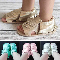 baby plastic boot - 9 Color New cow leather Infant open toe mocassions sandals baby tassels boot booties infant plastic leather layer