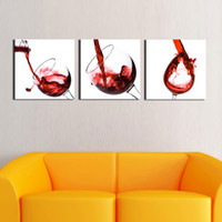 Cheap Creative Art - Large Red Wine Glasses Canvas Art, Picture Painting on Canvas Print Modern Home Decorations Wall Art