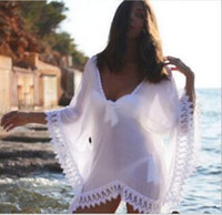 beach kaftan - Womens Swimwear Beachwear Bikini Beach Wear Cover Up Kaftan Ladies Summer Chiffon Lace Dress new arrive hight quality