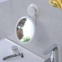 Wholesale Fashion Simple Bathroom Accessories Creative Bathroom Sucker Mirror Glass Sucker Makeup Mirror Home Decoration Cosmetic Product
