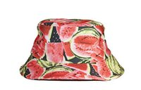 Wholesale Hot Sale Outdoor Fishing Cap Digital Printed Watermelon Fisherman Bucket Hat for Men and Women Retail