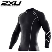 bicycle leopard - 2XU Men s Compression Tights T Shirt Running Bicycle Fitness tees Long Sleeve Outdoor Moisture Wicking Quick drying T shirt