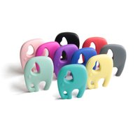 big colorful necklaces - Colorful Silicone Baby Teether Toys Cartoon Big Elephant Teething Chew Baby Molar Pendant Necklace BPA Free Food Grade Silicone Toddlers Toy