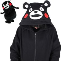 KUMAMON Anime Hooded Hoodies Ours noir avec oreille Cute Kawaii cosplay vêtements Harajuku Sweatshirt hiver Liz Lisa manteau de femme