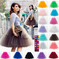 Wholesale 2016 Fashionable Woman Tulle Skirt Tutu Female Party Skirt Ball Gown For Woman High Quality Adult Tulle Skirt Maxi Skirt Ready To Wear