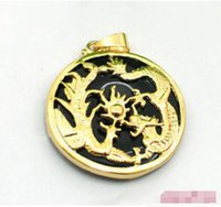 agate buy - 2016 hot buy pearl jade bracelet ring earring necklace Pendant gt gt gt Black Agate Yellow Gold Plated Dragon Phoenix Sun Pendant and Necklace