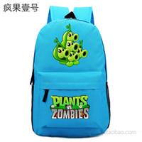 Wholesale New Brand Hot Anime Backpack Unisex Simple Canvas Plants vs Zombies Schoolbag Fashion Travel bag Shoulders Bag No