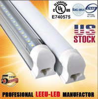 Wholesale X25pcs US stock T8 W mm M ft SMD Integrated tube fluorescent lamp V Frosted Clear Cover Led tubes years warranty