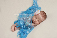 baby boy backgrounds - Newborn baby photography props lace flower triangle wraps for infants studio shooting tools baby girl boy photo background with tassel