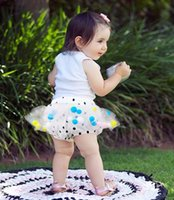 Wholesale INS explosion models children PP pants Toddler shorts female baby girls puff culottes ball skirt cotton ball cute Polka Dot shorts