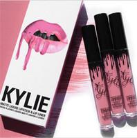 Wholesale kylie kit Lipstick KYLIE JENNER LIP KIT Velvetine Liquid Matte Lipstick in Red Velvet BROWN SUGAR DIRTY PEACH LOVE BITE smile