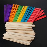 popsicle stick - 10packs pack Wooden Lollipop Popsicle Sticks Party Kids Crafts Ice Cream Lolly Cake Pops Making