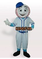 baseball fancy dress - New Baseball Man Mascot costume Adult Size Halloween Cartoon Party Outfits Fancy Dress