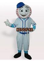baseball mascot costumes - New Baseball Man Mascot costume Adult Size Halloween Cartoon Party Outfits Fancy Dress