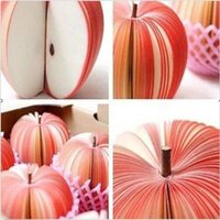 Wholesale 2016 new Trendy Korean Style Cute Apple Note Paper Fruit Note Memo Pads Portable Scratch