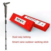 Wholesale Smart cane walking stick GPS precise positioning contains calls MP3 lighting radio and other functions economical and practical
