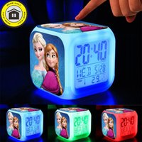 accessories changing color light - LED Colorful flash Touch lights princess Anna Elsa Doll Clock toys bonecas Olaf brinquedos educational toys Dolls Accessories