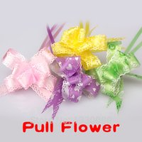 Wholesale 10pcs Color Christmas Gift Packing Pull Bow Ribbons Gift Wrapping Christmas Wedding Party Decoration Pullbows E5M1 order lt no track