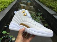 Wholesale Excellent Quality Air Jordan Retro XII OVO White Metallic Gold White GOLD WHITE White Gold Jordan Men s Air Jordans Basketball Shoes