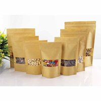 Wholesale Kraft paper bags Zippered packaging bags Paper ziplock Jewelry Bags specifications