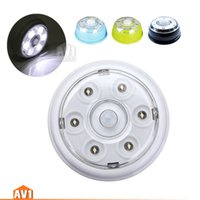battery powered security light - 2 PIR Auto Motion Sensor Battery powered Wall Ceiling led Night Light ECO lamp car cabinet garage warehouse security