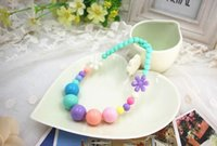 Wholesale new hot customizable Korean children candy color flower necklace baby products sold by the piece e mail treasure
