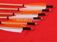 beautiful arrows - 12 archery hunting wooden arrows durable very beautiful