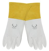 argon welding gloves - Argon arc welding glove Deerskin Leather TIG MIG welder safety glove carbon half sleeve work gloves