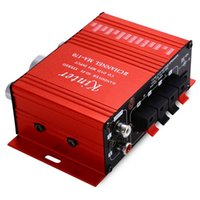Wholesale MA Mini V W HiFi Stereo Audio Car Power Amplifier Booster DVD MP3 Portable Speaker For Car Motorcycle Loudspeakers