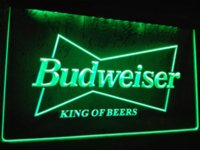 Wholesale LE009 Budweiser King Beer Bar Pub Club LED Neon Light Sign home decor crafts