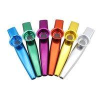 Wholesale Aluminum Alloy Kazoo Flute Harmonica w Diaphragm Musical Instrument Gift for Kids Music Lovers Colors H210741