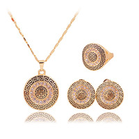 Wholesale Hot Jewelry Crystal Necklace Earrings Rings Women Suits