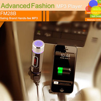 battery tuner - Multi Bluetooth Car Kit FM transmitter BT Handsfree calling support TF card with Built in battery Car charger for iPhone FM28B